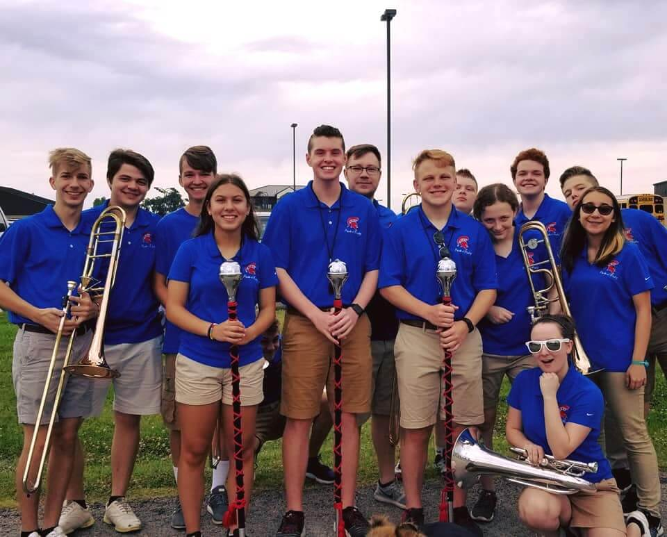 2018 POB Drum Majors and fellow Band Members at the Green Corn Parade
