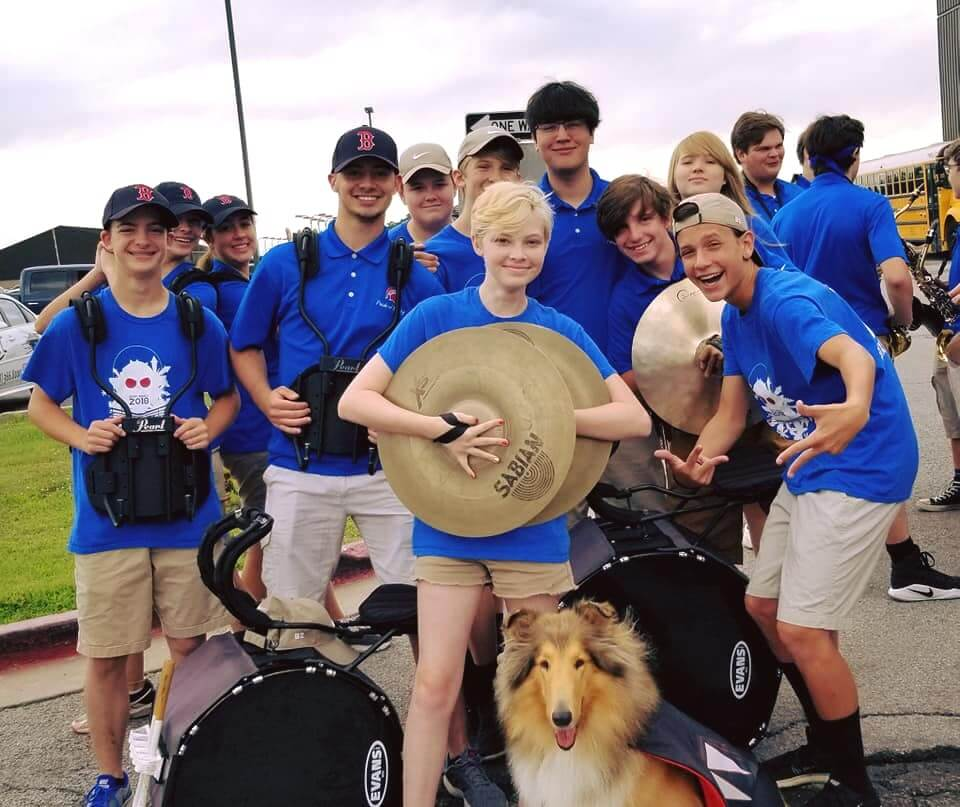 Precussion at the Green Corn Parade with Jazz