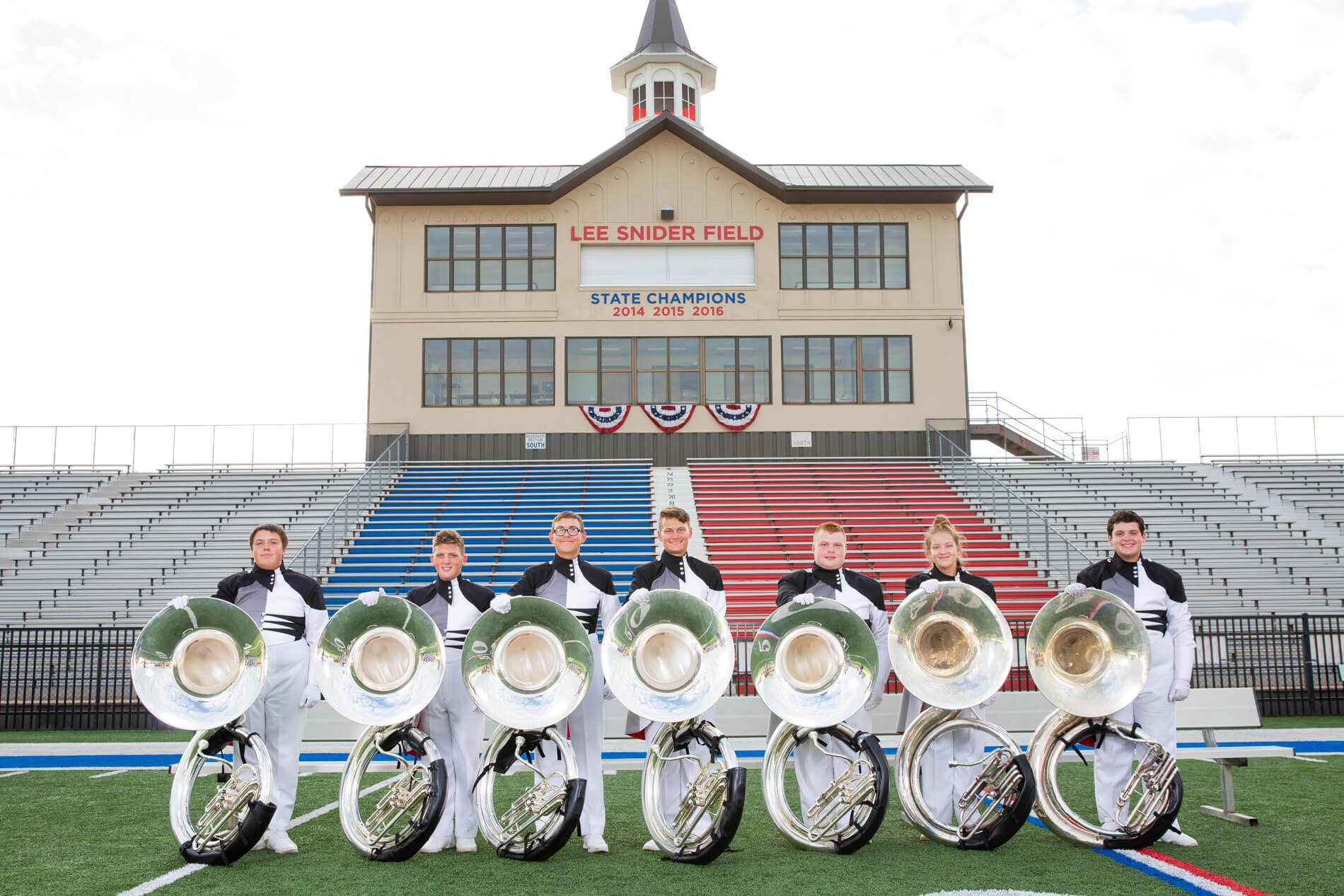 2018 Pride of Bixby Sousaphone Section