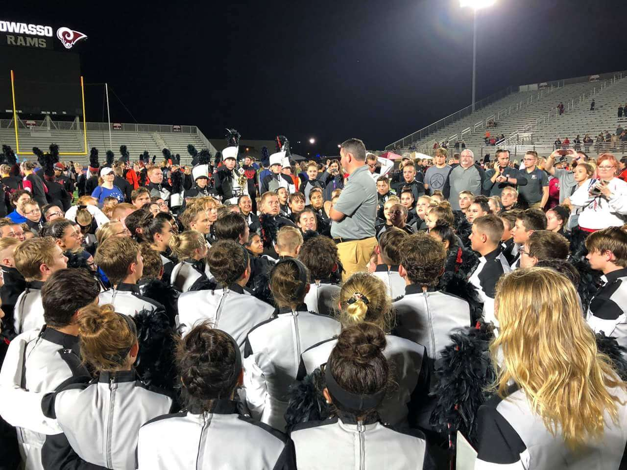 Parker Talking to Band Family